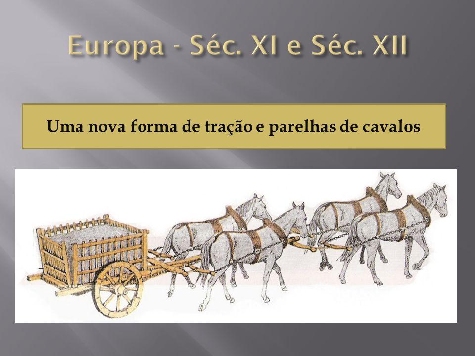 Uma nova forma de tração e parelhas de cavalos