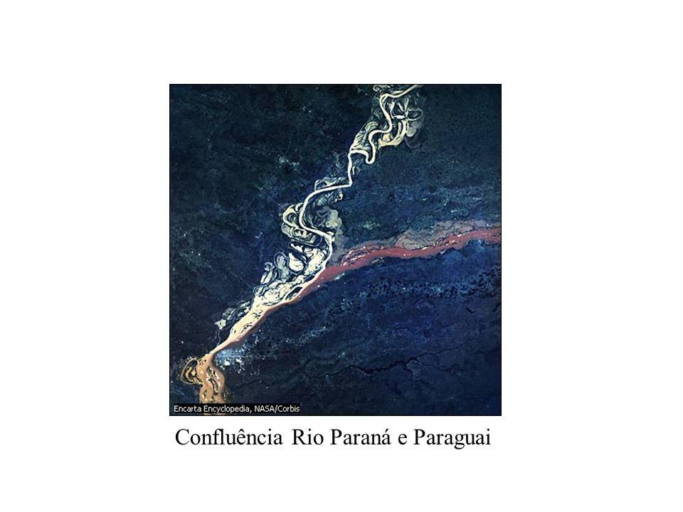 Confluência Rio Paraná e Paraguai
