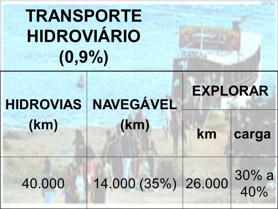 TRANSPORTE HIDROVIÁRIO (0,9%)