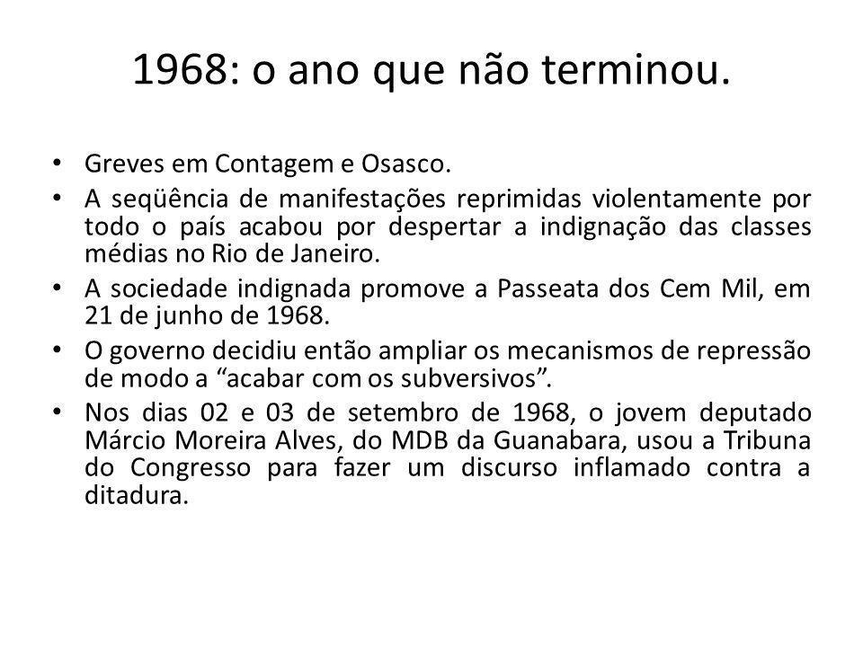 1968: o ano que não terminou. Greves em Contagem e Osasco.