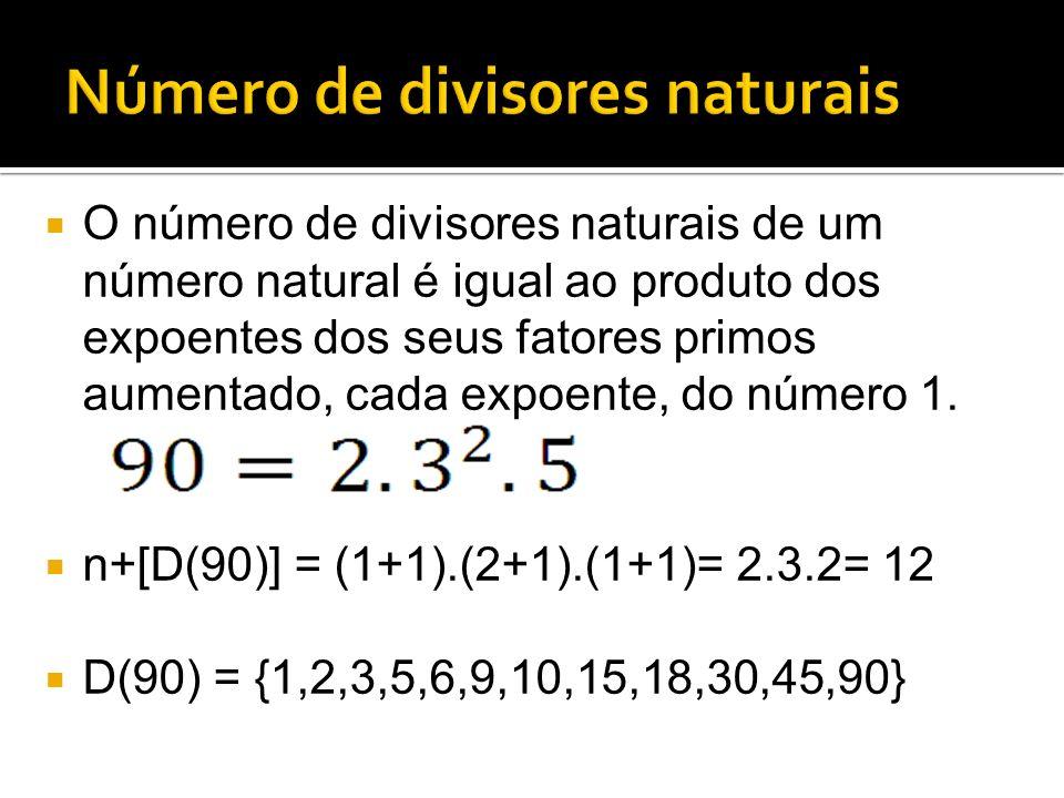 Número de divisores naturais