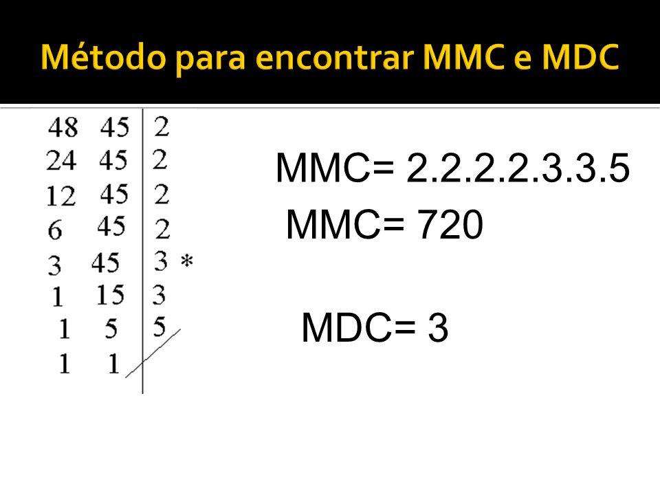 Método para encontrar MMC e MDC
