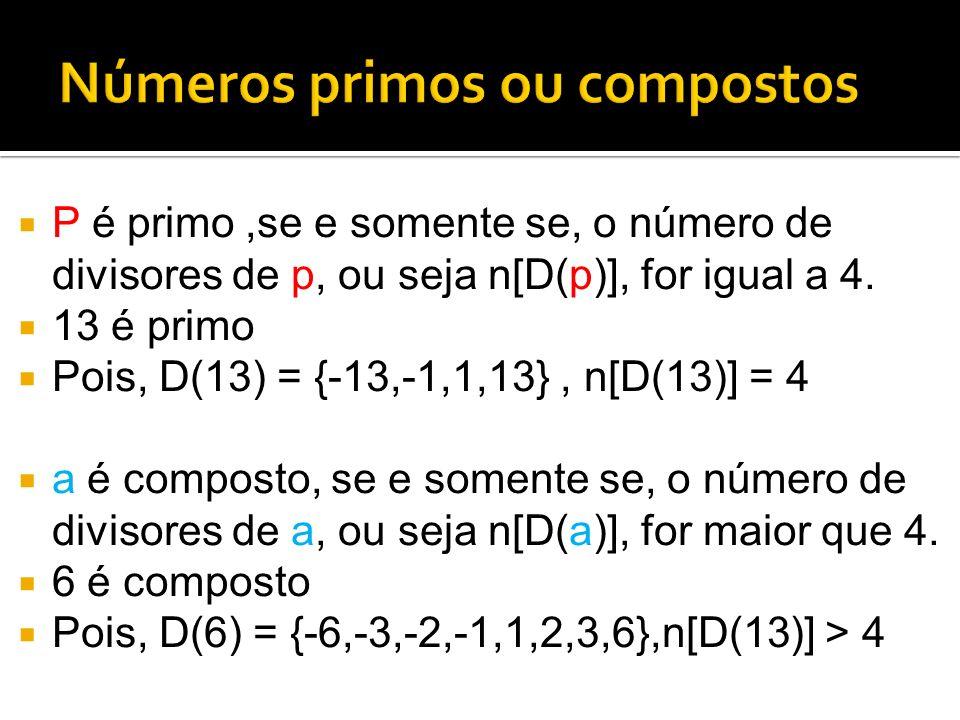 Números primos ou compostos