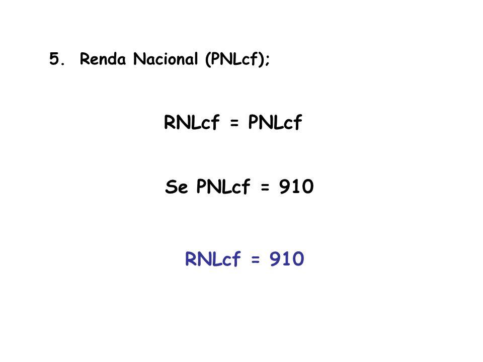 RNLcf = PNLcf Se PNLcf = 910 RNLcf = 910
