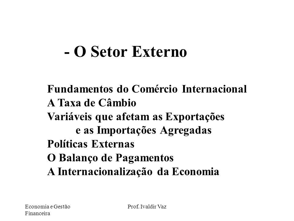 - O Setor Externo Fundamentos do Comércio Internacional