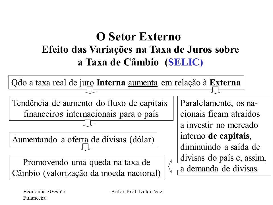 Efeito das Variações na Taxa de Juros sobre a Taxa de Câmbio (SELIC)