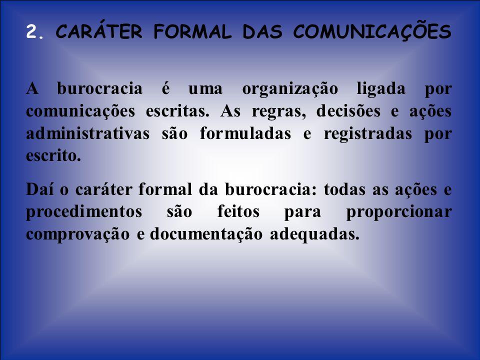 2. CARÁTER FORMAL DAS COMUNICAÇÕES