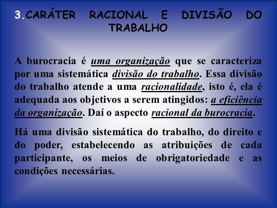 3.CARÁTER RACIONAL E DIVISÃO DO TRABALHO