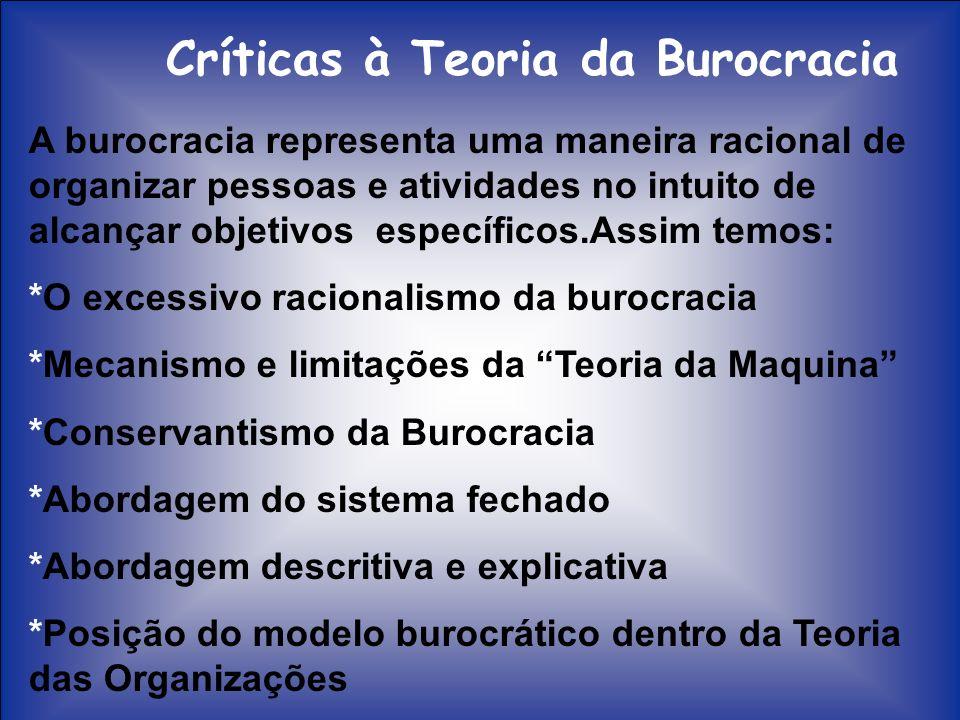 Críticas à Teoria da Burocracia