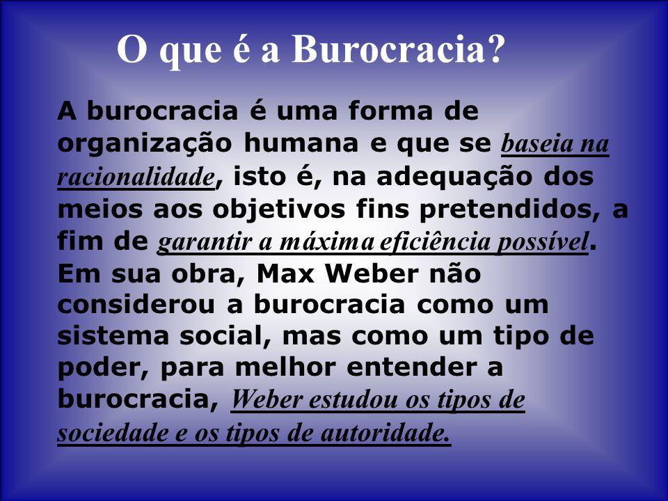 O que é a Burocracia