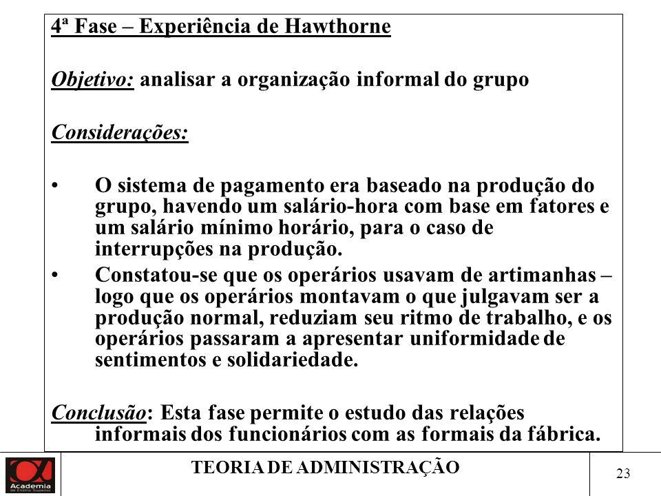 TEORIA DE ADMINISTRAÇÃO