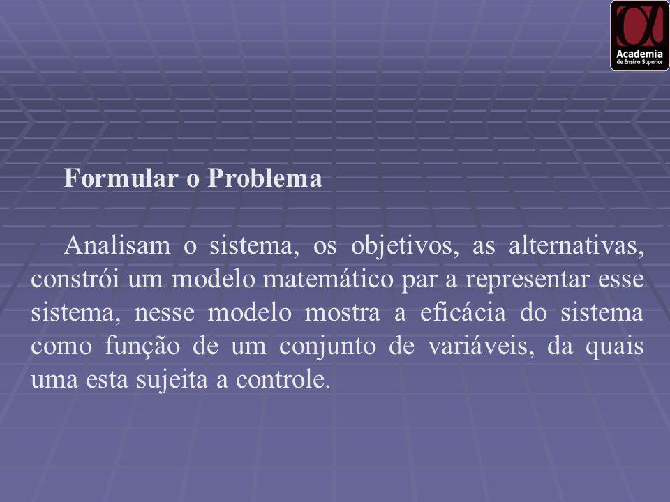 Formular o Problema