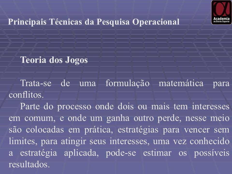 Principais Técnicas da Pesquisa Operacional