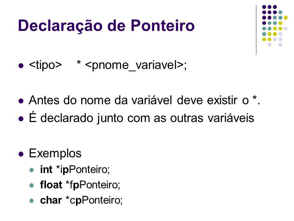 Declaração de Ponteiro