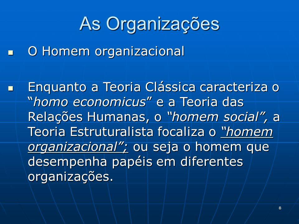As Organizações O Homem organizacional