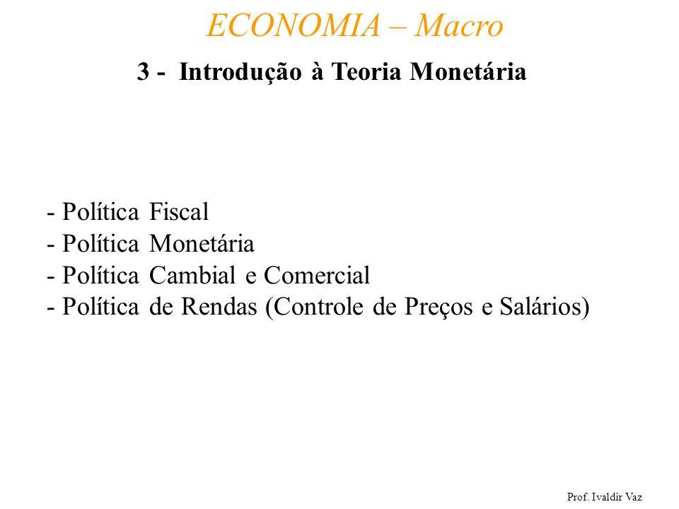 3 - Introdução à Teoria Monetária