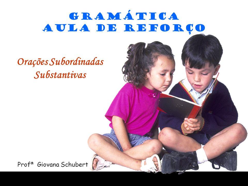 GRAMÁTICA AULA DE REFORÇO