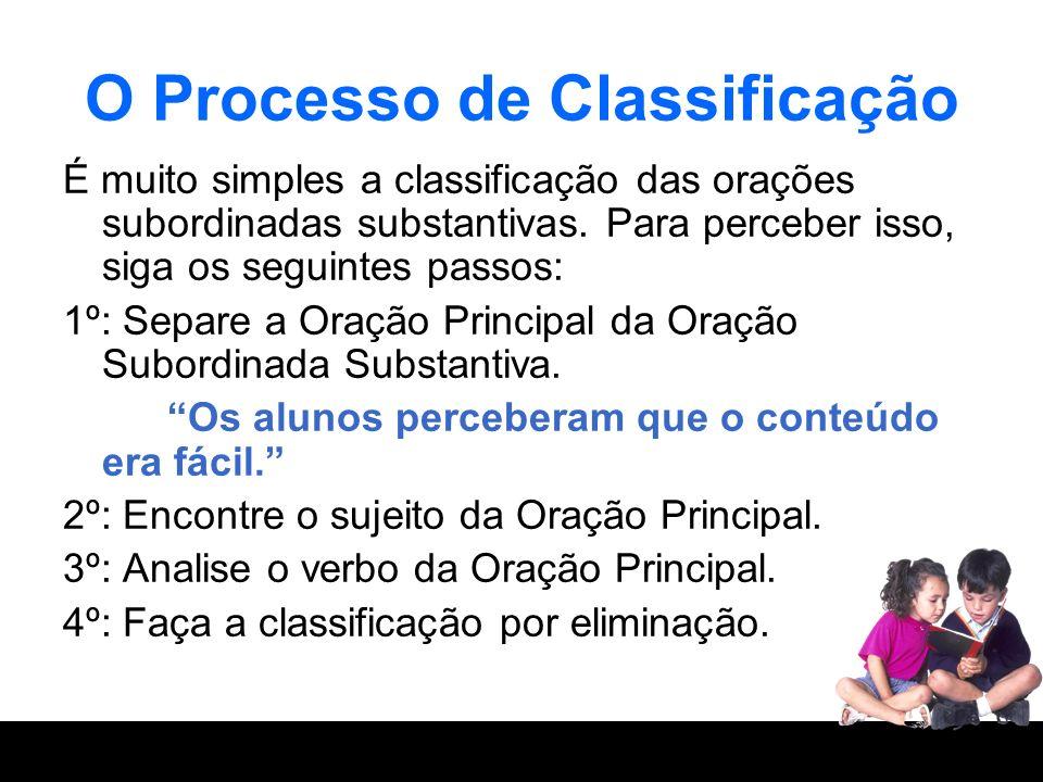 O Processo de Classificação