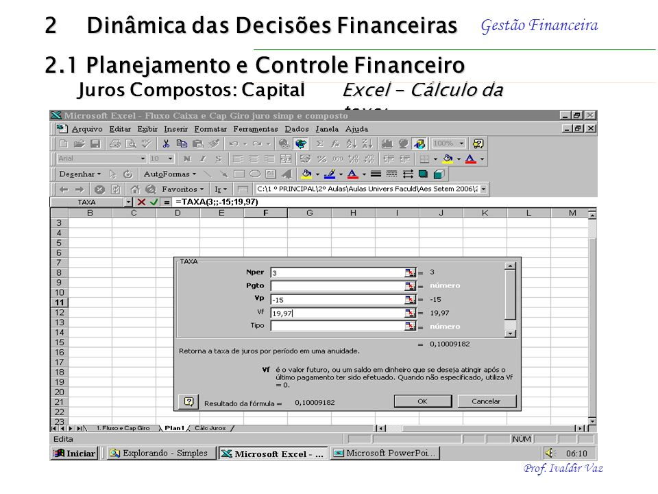 2 Dinâmica das Decisões Financeiras