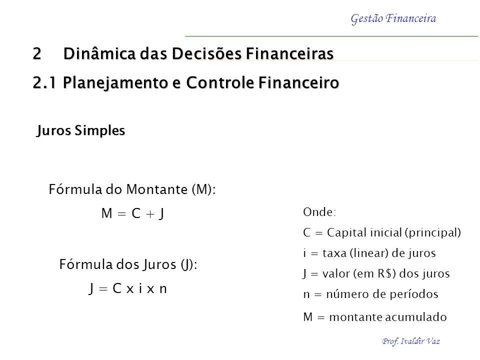 Fórmula do Montante (M):