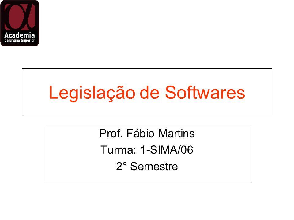 Legislação de Softwares