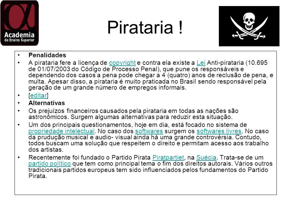 Pirataria ! Penalidades