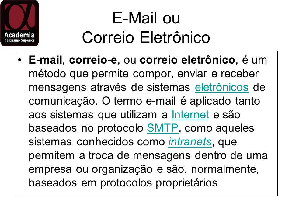 E-Mail ou Correio Eletrônico