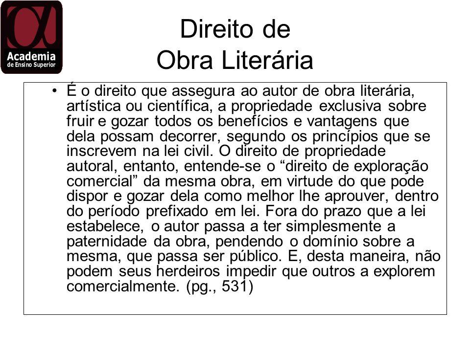 Direito de Obra Literária