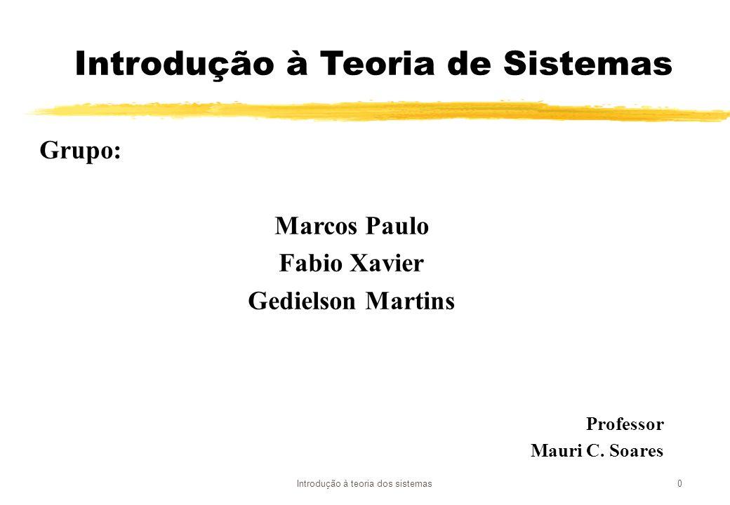 Introdução à Teoria de Sistemas