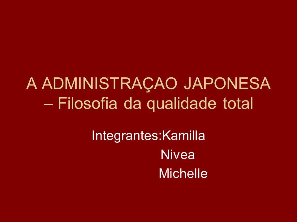 A ADMINISTRAÇAO JAPONESA – Filosofia da qualidade total