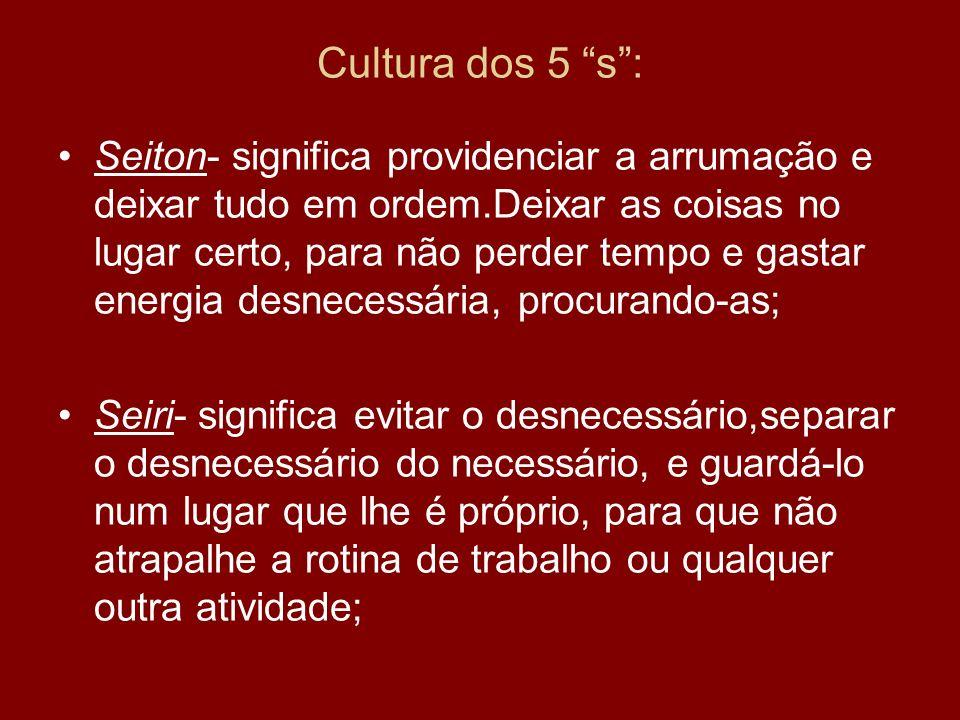 Cultura dos 5 s :