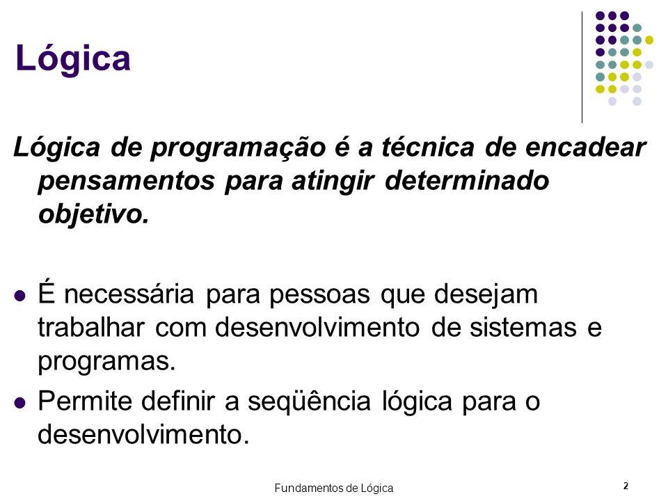Lógica Lógica de programação é a técnica de encadear pensamentos para atingir determinado objetivo.