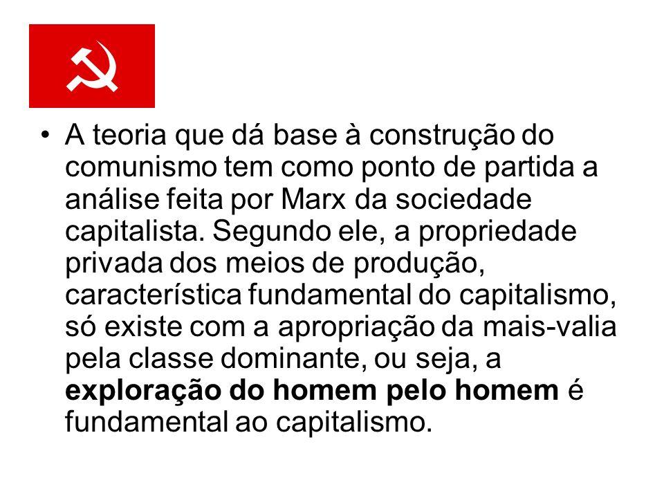 A teoria que dá base à construção do comunismo tem como ponto de partida a análise feita por Marx da sociedade capitalista.
