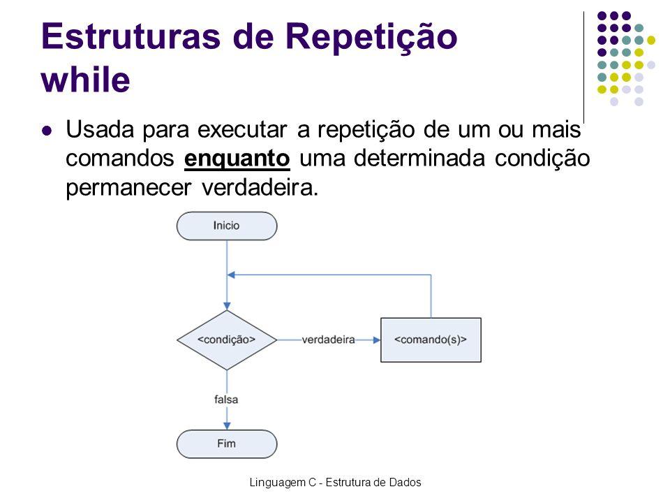 Estruturas de Repetição while