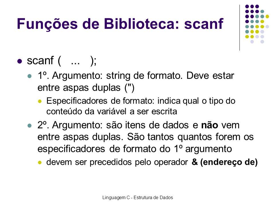 Funções de Biblioteca: scanf
