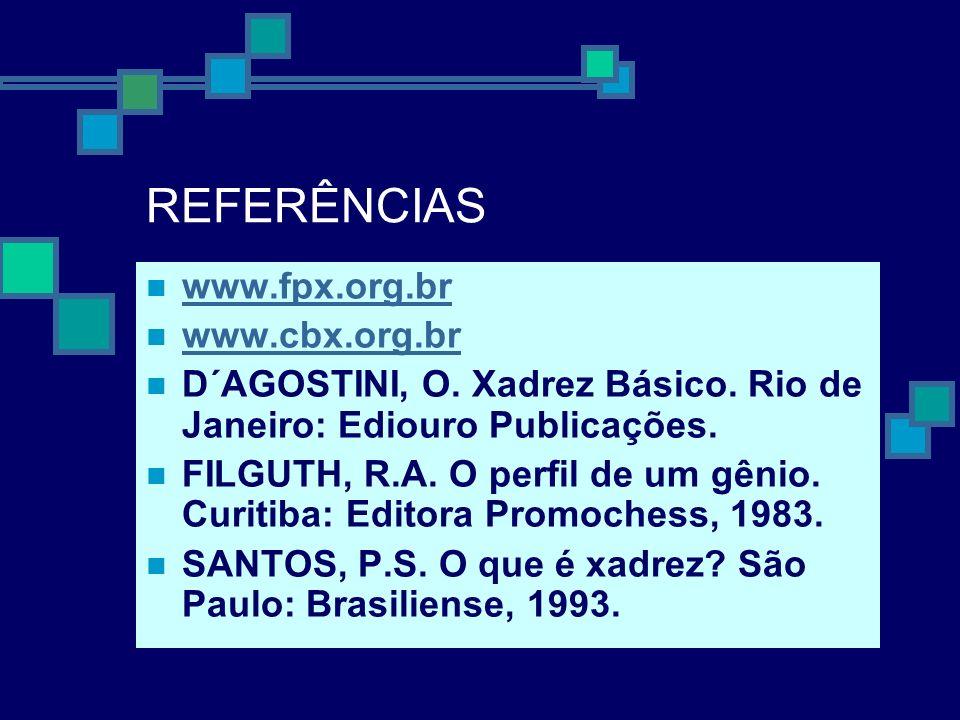 REFERÊNCIAS www.fpx.org.br www.cbx.org.br