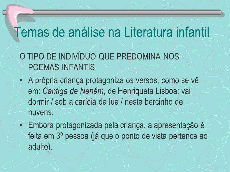 Temas de análise na Literatura infantil