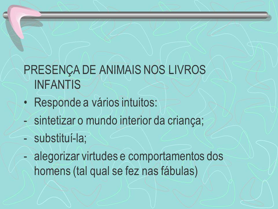 PRESENÇA DE ANIMAIS NOS LIVROS INFANTIS