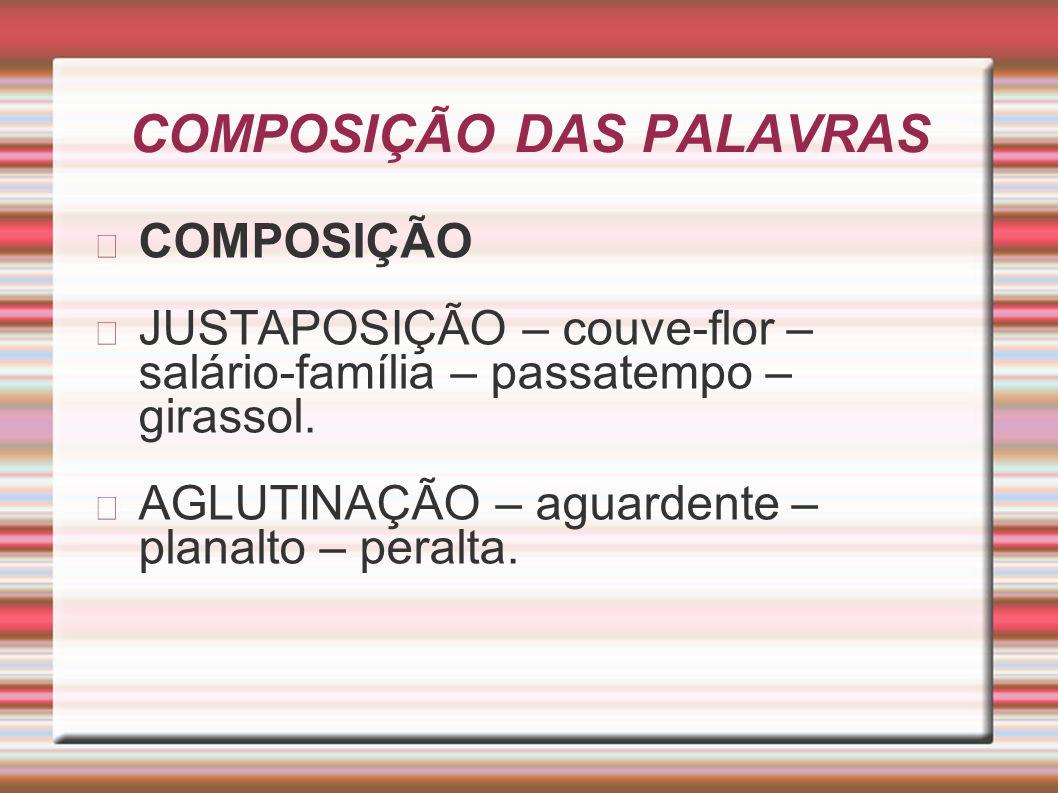 COMPOSIÇÃO DAS PALAVRAS