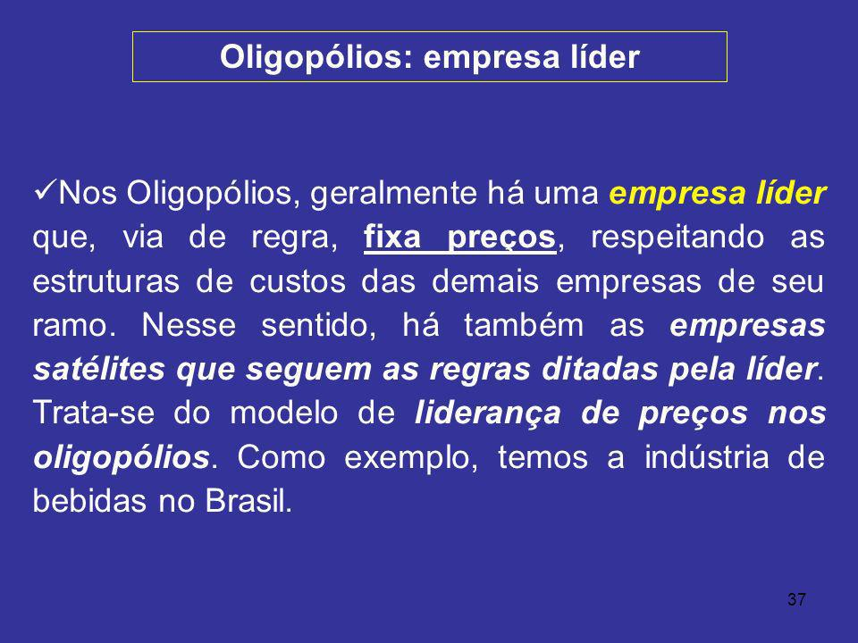 Oligopólios: empresa líder