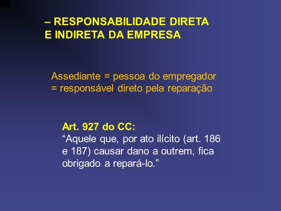 – RESPONSABILIDADE DIRETA E INDIRETA DA EMPRESA