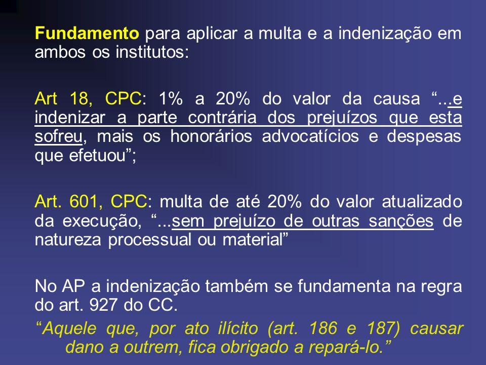 No AP a indenização também se fundamenta na regra do art. 927 do CC.