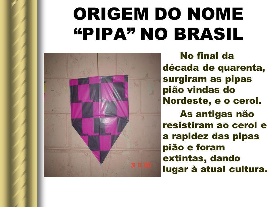 ORIGEM DO NOME PIPA NO BRASIL