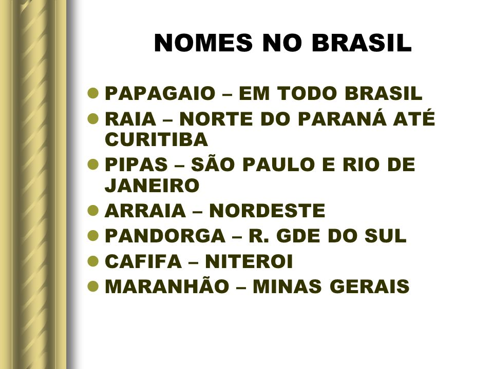 NOMES NO BRASIL PAPAGAIO – EM TODO BRASIL