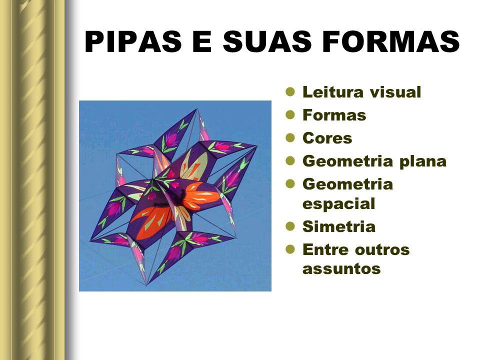 PIPAS E SUAS FORMAS Leitura visual Formas Cores Geometria plana