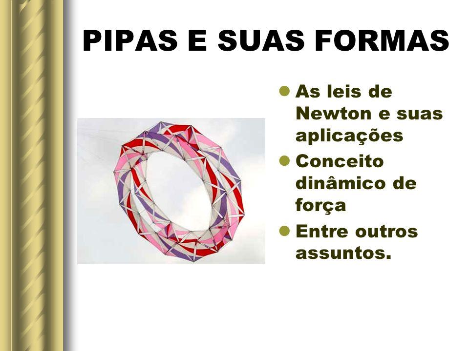PIPAS E SUAS FORMAS As leis de Newton e suas aplicações