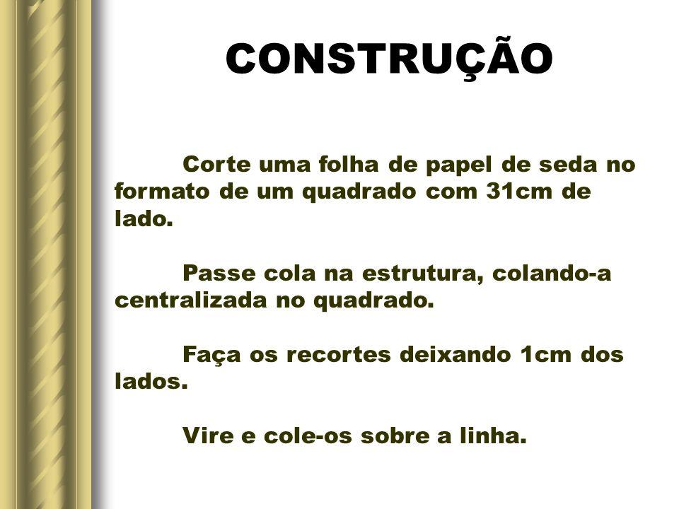 CONSTRUÇÃO Corte uma folha de papel de seda no
