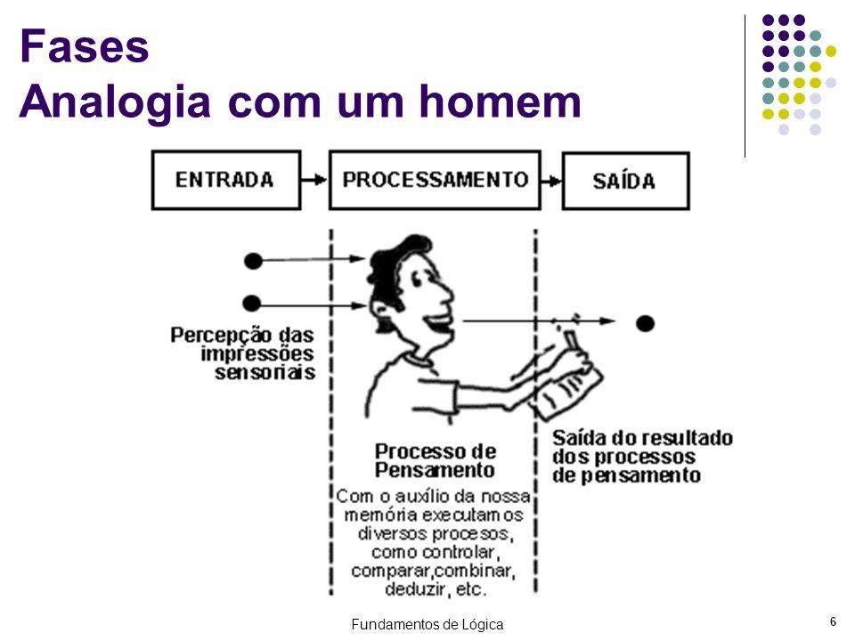 Fases Analogia com um homem