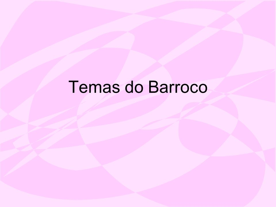 Temas do Barroco