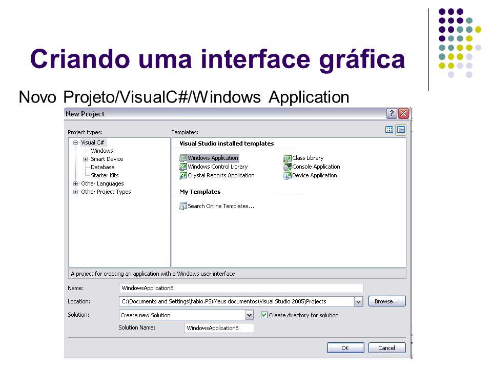 Criando uma interface gráfica